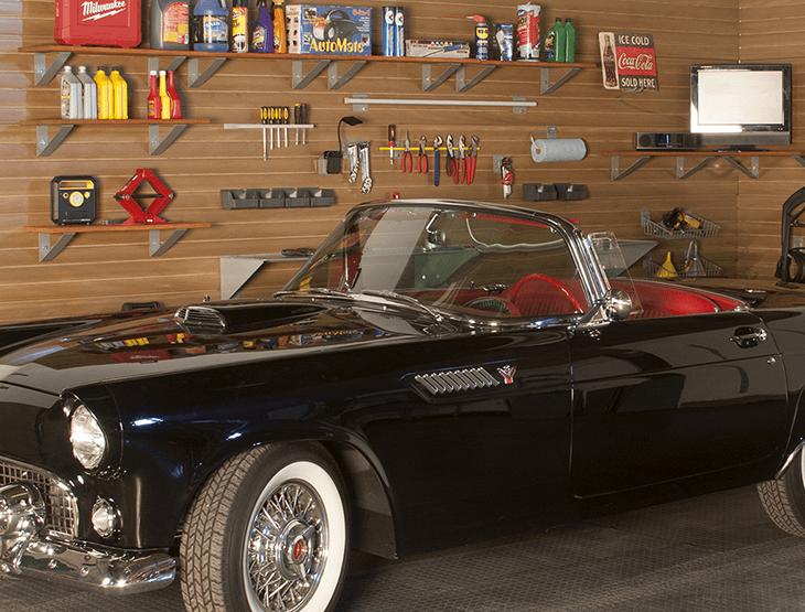 Wall Rack in Garage