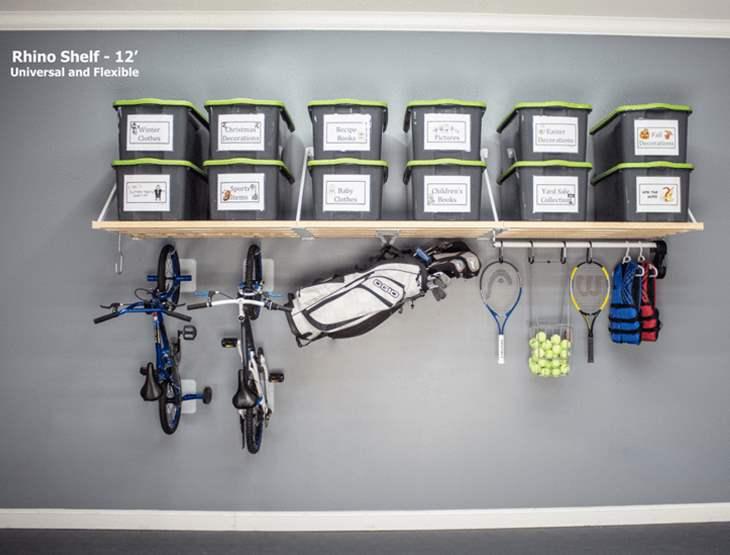 Garage Wall Shelf 12 Foot